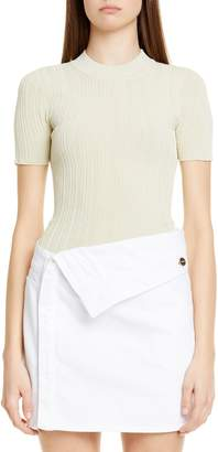 Jacquemus La Maille Afa Short Sleeve Rib Sweater