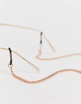 23063cf798 Asos Design DESIGN sunglasses chain in rose gold tone