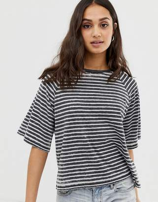 Asos Design DESIGN t-shirt in boxy fit in burnout stripe