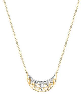 Ivanka Trump Liberté Half Moon Diamond Pendant Necklace $2,100 thestylecure.com