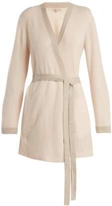 Morgan lane Lane - Bella Lurex Trimmed Cashmere Robe - Womens - Pink