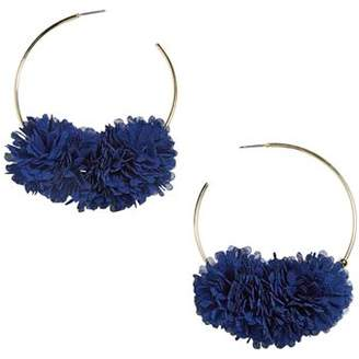 BaubleBar Sanchia Floral Cluster Hoop Earrings