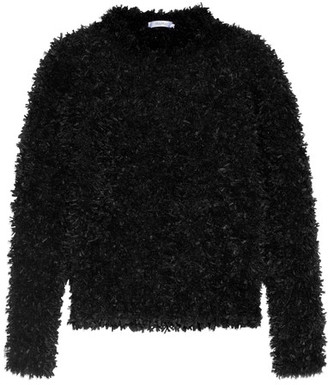 Max Mara - Fringed Knitted Sweater - Black $835 thestylecure.com