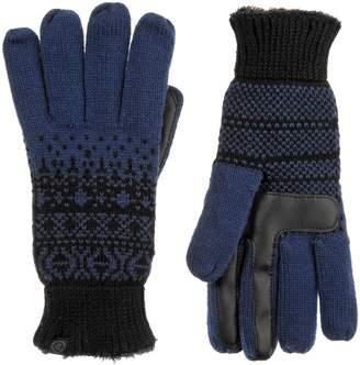 Isotoner Women's smartDRI Fairisle Knit Tech Gloves