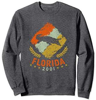 Florida Retro Alligator Sweatshirt 2001 Birth Year
