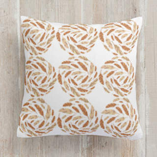 Feather Swirl Self-Launch Square Pillows