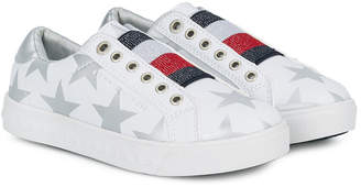 Tommy Hilfiger Junior star-print slip-on sneakers