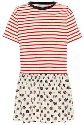 RED Valentino Mixed print T-shirt dress