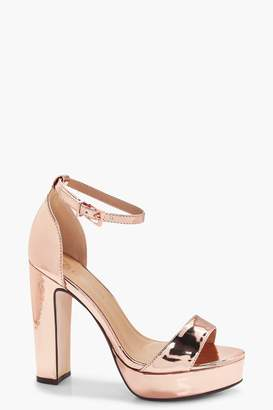 boohoo Wide Fit Platform 2 Part Heels