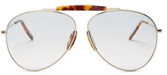 Acne Studios Aviator Metal Sunglasses - Womens - Blue