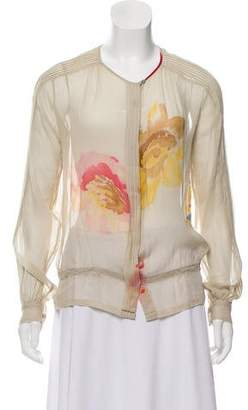 Dries Van Noten Printed Silk Top