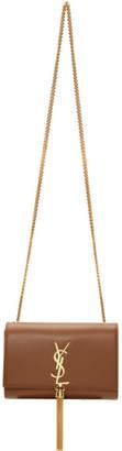 Saint Laurent Brown Small Kate Tassel Bag
