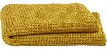 Cable Yellow Throw