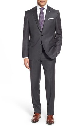 Men's Ted Baker London 'Jay' Trim Fit Solid Wool Suit $695 thestylecure.com