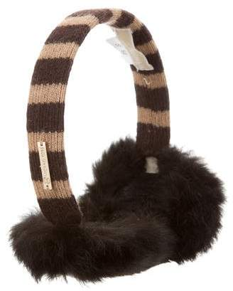 MICHAEL Michael Kors Rabbit Fur Ear Muffs