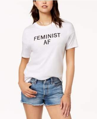 Carbon Copy Cotton Feminist Graphic T-Shirt