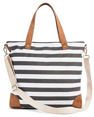 Merona Women's Stripe Print Canvas Tote Handbag with Removeable Crossbody Strap - Merona $29.99 thestylecure.com