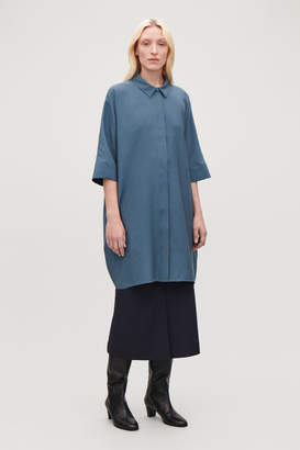 Cos CRINKLED WOVEN SHIRT DRESS