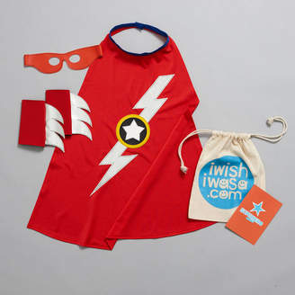 iwishiwasa Superhero 'Lightening Bolt' Costume Gift Set