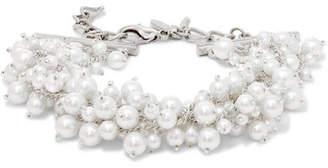 Oscar de la Renta Silver-tone Faux Pearl Bracelet - White
