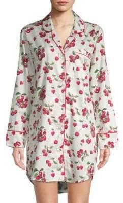 BedHead Cherry-Print Cotton Sleepshirt