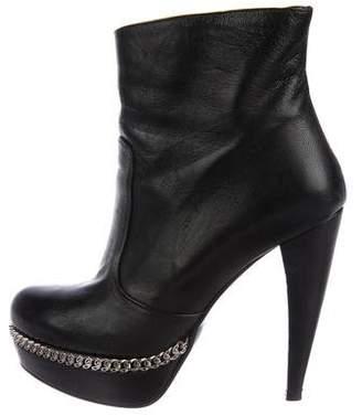 Bruno Magli Leather Platform Boots