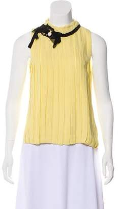 Robert Rodriguez Sleeveless Silk Blouse