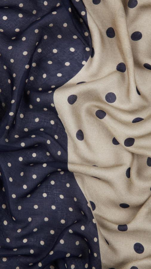 Burberry Polka Dot Print Modal Silk Square