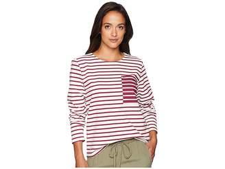 Lauren Ralph Lauren Striped Cotton Pocket T-Shirt