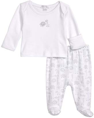 Kissy Kissy Jungle Out There Fitted Two-Piece Footed Pajamas (Baby)