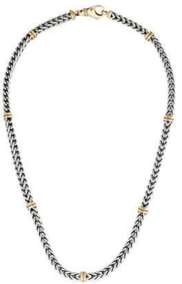 14K Bi-Color Station Chain Necklace