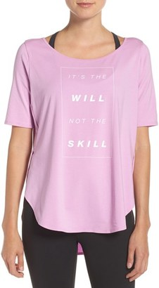 Under Armour 'It's the Will' Graphic Jersey Tee $44.99 thestylecure.com