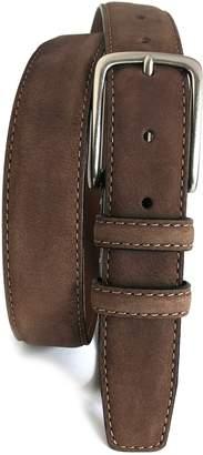 Boconi 'Tyler' Double Stitched Suede Belt