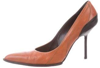 Narciso Rodriguez Pointed-Toe Leather Pumps