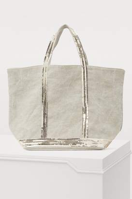 Vanessa Bruno Medium sequined linen tote