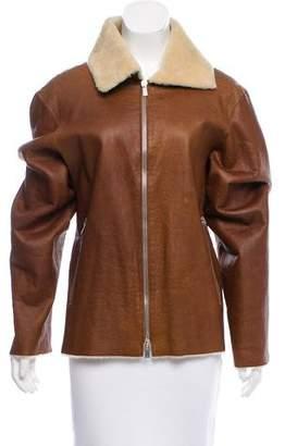 Michael Kors Long Sleeve Shearling Jacket