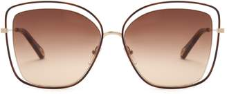 Chloé Poppy butterfly-frame sunglasses
