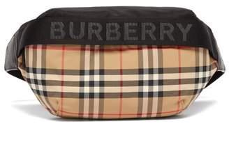 Burberry Sonny Medium Haymarket Check Belt Bag - Womens - Beige Multi