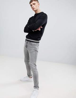 Class Roberto Cavalli sweatshirt in black with logo