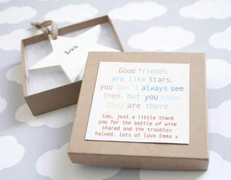 Modo creative Personalised Wooden Friendship Star