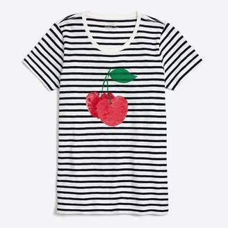 J.Crew Factory Sequin cherries collector T-shirt