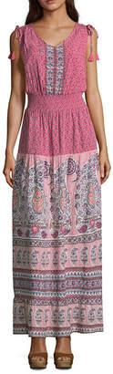 Liz Claiborne Sleeveless Floral Maxi Dress