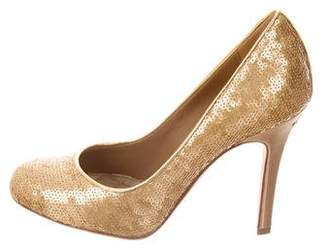 Chanel Sequined CC Pumps