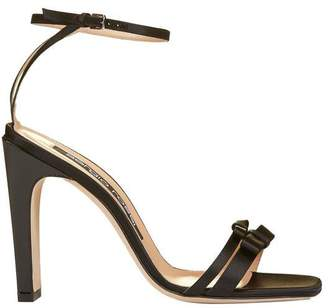 Sergio Rossi Bow Detail Ankle Strap Sandals