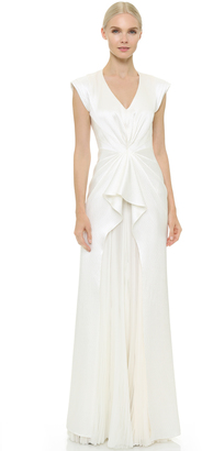 J. Mendel Monika Sleeveless V-Neck Gown $4,740 thestylecure.com