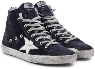 Golden Goose Francy Suede High-Top Sneakers