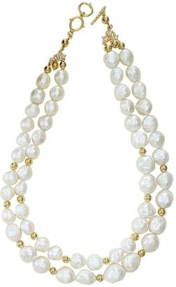 Farra - Irregular Shaped Pearls Double Strands Necklace