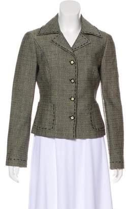 Alberta Ferretti Notch-Lapel Tweed Blazer