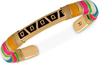 Rachel Roy Gold-Tone Mixed-Media Wrapped Bracelet