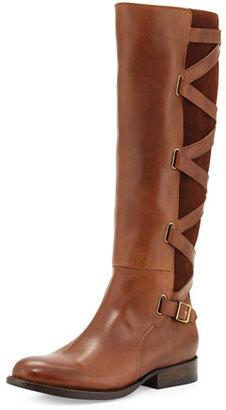 Frye Jordan Strappy Knee Boot, Wood $498 thestylecure.com